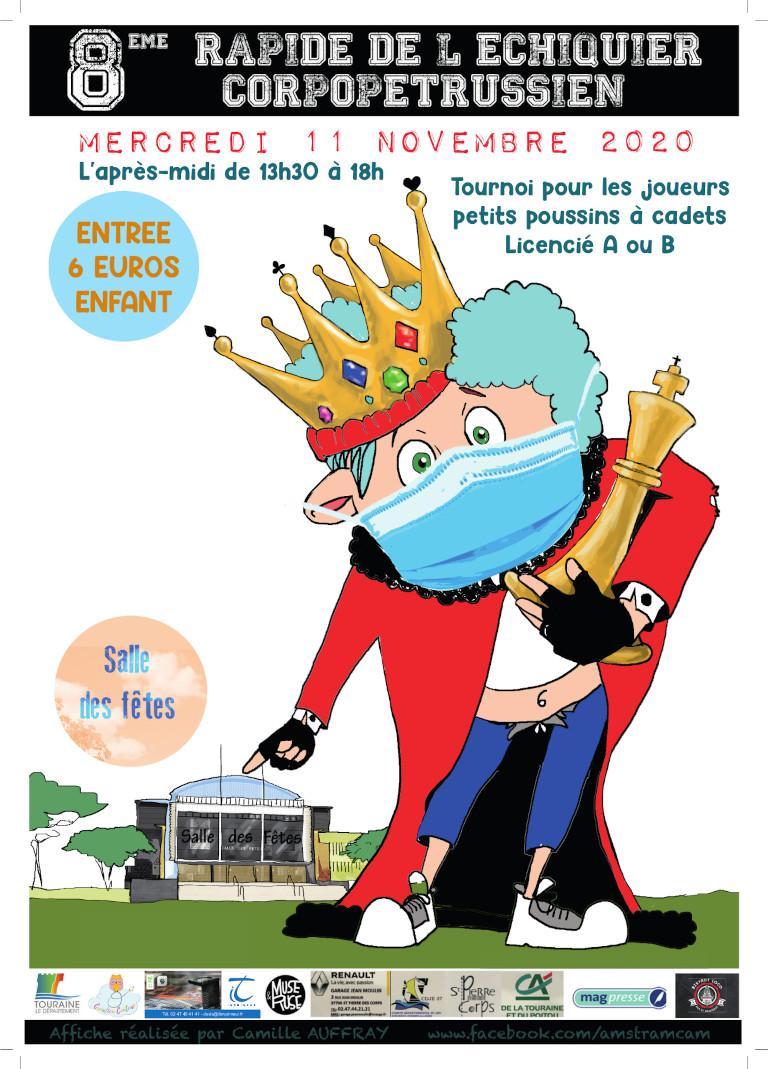 Affiche du 8ème tournoi rapide de Saint-Pierre-Des-Corps